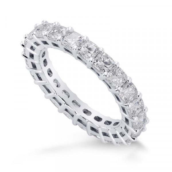 Cushion Diamond Full Eternity Band Ring (3.23Ct TW)