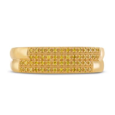 Gents Fancy Intense Yellow Diamond Band Ring (0.30Ct TW)