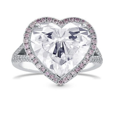 Exceptional IF Heart Shape Halo Diamond Ring (6.00Ct TW)