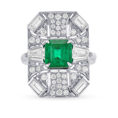 Colombian Emerald and Diamond Couture Halo Ring (3.70Ct TW)
