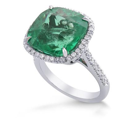 Extraordinary Colombian Cushion Emerald and Diamond Halo Ring (11.45Ct TW)