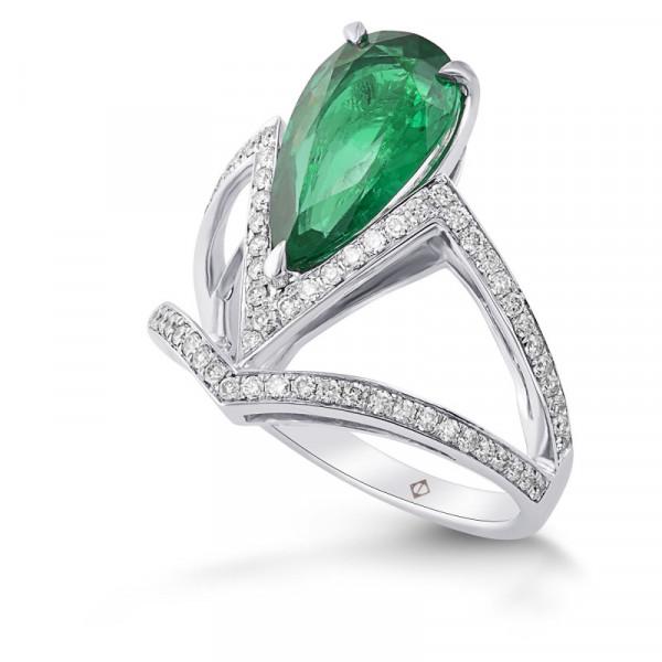 Zambian Emerald & Diamond Side Stone Ring (2.81Ct TW)