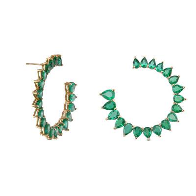 Colombian Emerald Pear Shape & 18K Yellow Gold Earrings (9.20Ct TW)