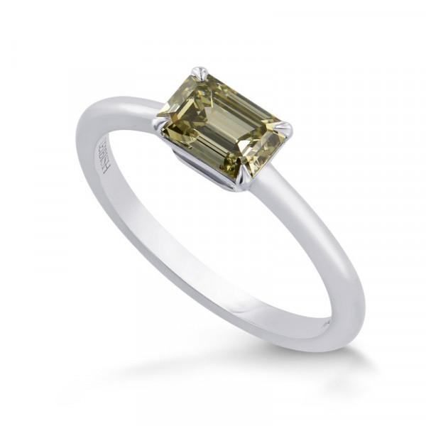Chameleon Emerald-cut Diamond Solitaire Ring (0.94Ct)