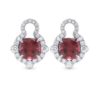 Mood Design Gemstones and Diamond Halo Drop Earrings (8.27Ct TW)