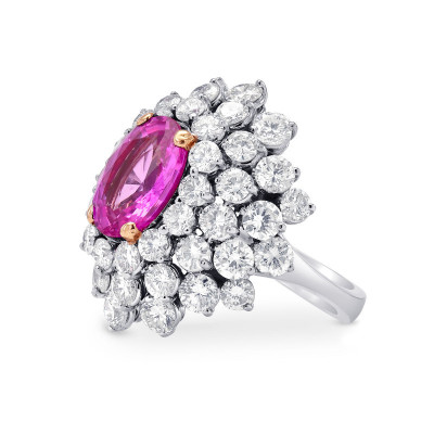 Extraordinary Oval Pink Sapphire and Diamond Ring (9.30Ct TW)