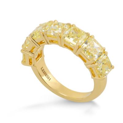 Fancy Light Yellow Radiant Diamond Band Ring (6.12Ct TW)