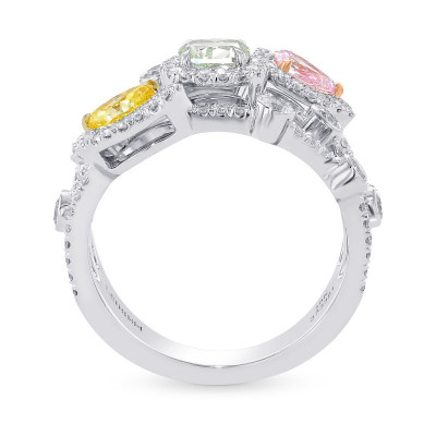 Extraordinary Mix Color and Shape Diamond Ring (1.82Ct TW)