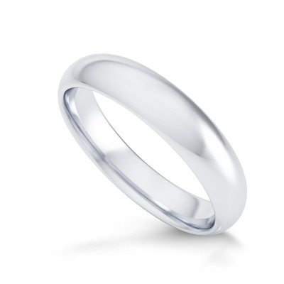 Comfort Fit Domed Wedding Band