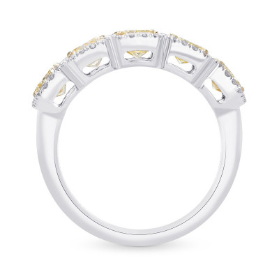Fancy Light Yellow Radiant Diamond 5 Stone Band Ring (2.32Ct TW)