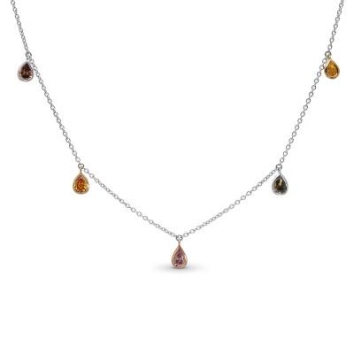 Mix Shape & Mix Color Diamond Necklace (0.88Ct TW)