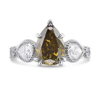 Chameleon Pear Diamond Side Stone Ring (4.00Ct TW)