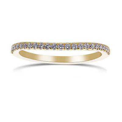 Contoured Diamond Engagement Ring (0.18Ct TW)