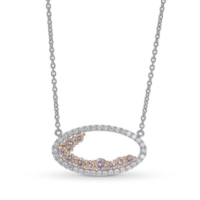 Fancy Light Pink Halo Diamond Pendant (0.80Ct TW)