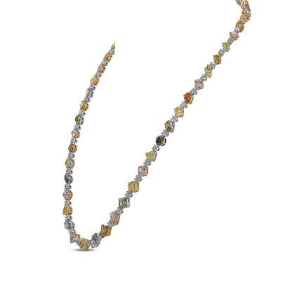 Extraordinary Mix color Diamond Necklace (39.40Ct TW)