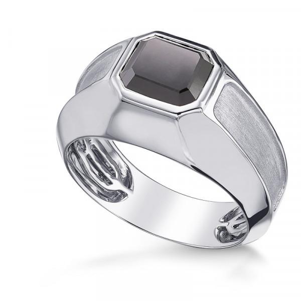 Black Radiant Diamond Gents Ring (2.67Ct)