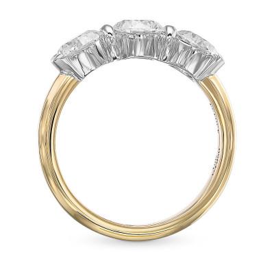 Round Brilliant 3 Stone Diamond Ring (2.11Ct TW)