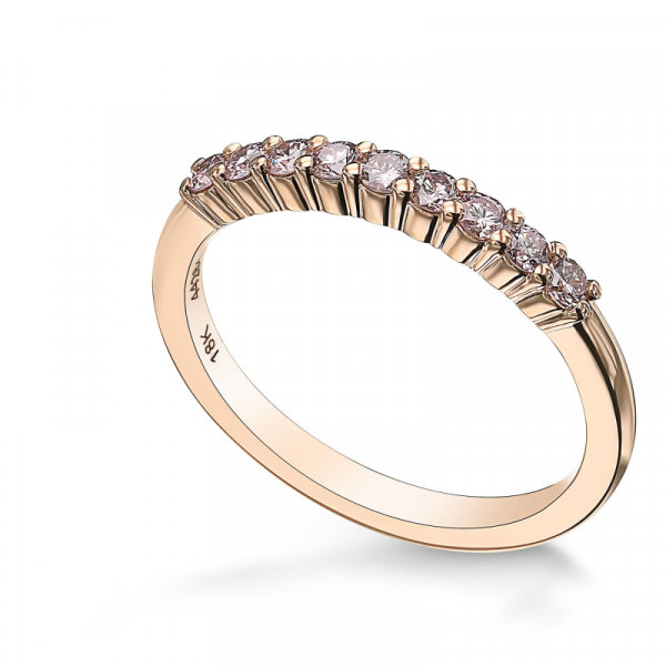 Fancy Light Pink Diamond 9 Stone Stacking Band Ring (0.25Ct TW)