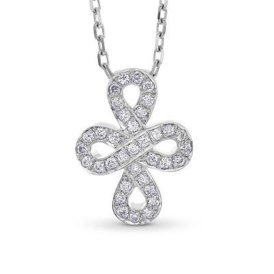 White Gold Diamond Infinity Pendant (0.11Ct TW)