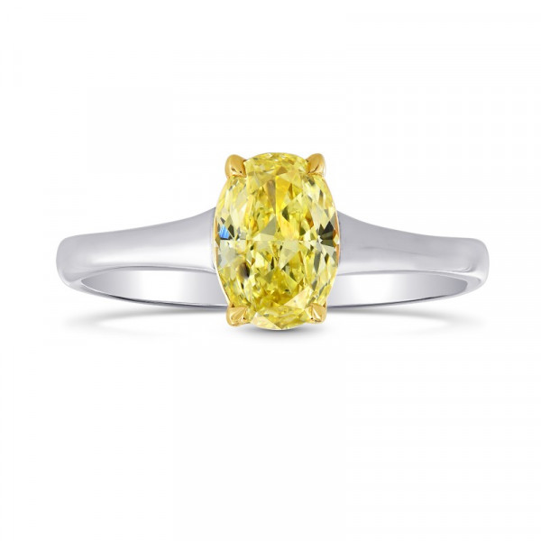 Fancy Intense Yellow Diamond Solitaire Ring (1.01Ct)