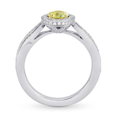 Fancy Intense Yellow Round Brilliant Diamond Engagement Ring (0.90Ct TW)