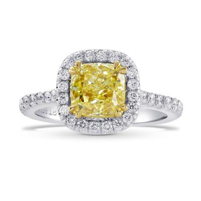Fancy Yellow Radiant Diamond Halo Ring (2.78Ct TW)