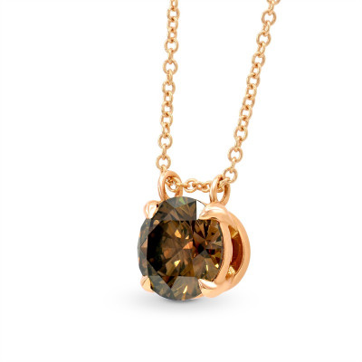 Fancy Brown Round Diamond Pendant (1.41Ct)