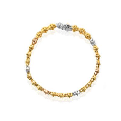 Multicolor Floral Diamond Bracelet (6.47Ct TW)