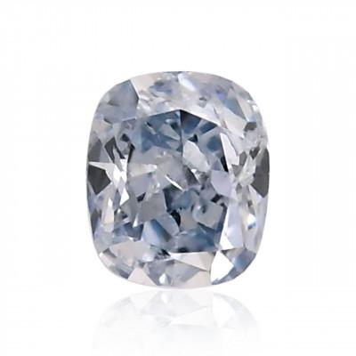 0.12 carat, Fancy Blue Diamond, Cushion Shape, (I1) Clarity, GIA