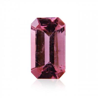 0.84 carat, Pink Tourmaline, Emerald Shape