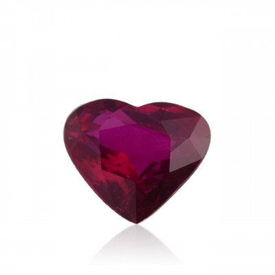 1.61 carat, Red MOZAMBIQUE Ruby, Heart Shape, No evidence of heat enhancement, CD