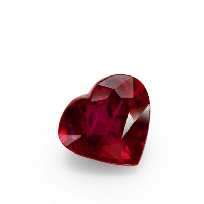 2.01 carat, Red MOZAMBIQUE Ruby, Heart Shape, No evidence of heat enhancement, CD