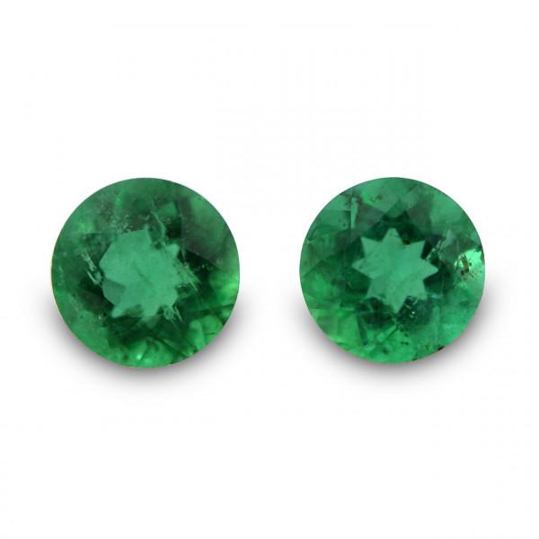 0.48 carat, Green, ZAMBIAN Emerald, Round Shape