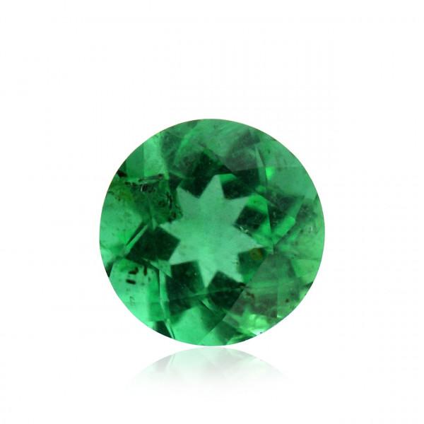 0.32 carat, Green, ZAMBIAN Emerald, Round Shape, Minor