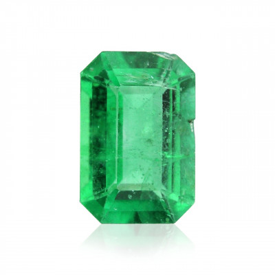0.49 carat, Green, ZAMBIAN Emerald, Emerald Shape