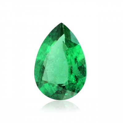 0.30 carat, Green ZAMBIAN Emerald Pear Shape