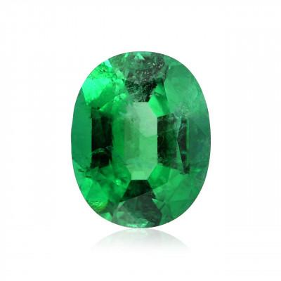 1.86 carat, Green ZAMBIAN Emerald Oval Shape, Minor, CD