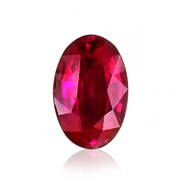 0.44 carat, Red Ruby, Oval Shape