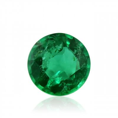 0.36 carat, Green, ZAMBIAN Emerald, Round Shape