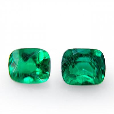 2.00 carat green Colombian emerald, cushion shape