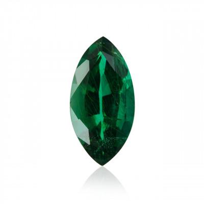 2.55 carat, Green, ZAMBIAN Emerald, Marquise Shape, GWLAB