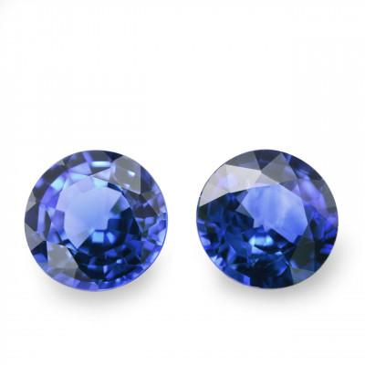 1.18 карат, синий, цейлонский сапфир, круглой формы