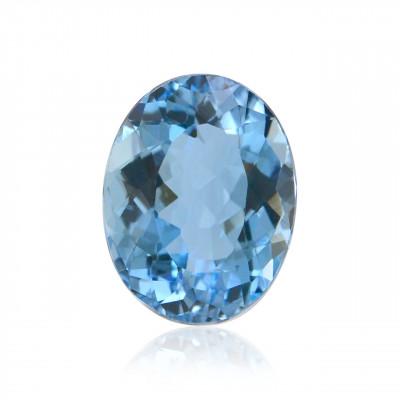 2.47 карата, синий, бразильский Аквамарин, овальной формы