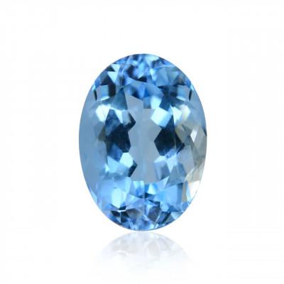 1.72 карат, синий, бразильский Аквамарин, овальной формы