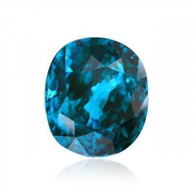 25.14 carats, blue, Brazilian Zircon oval shape