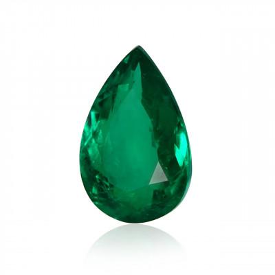 2,96 карат, зеленый, колумбийский изумруд, грушевидной формы, мелкие, компакт-диск