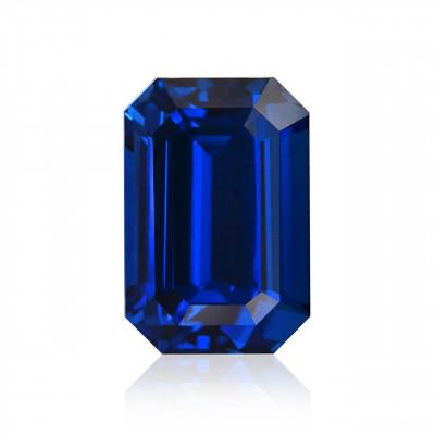 10.47 карат, королевский синий, Шри-Ланки сапфир, изумруд форма, гр