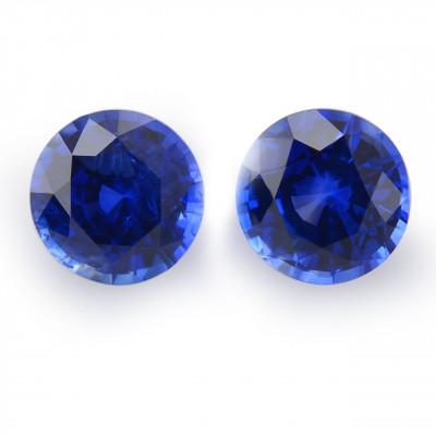 1.42 карат, синий, Шри-Ланки Сапфир, круглой формы