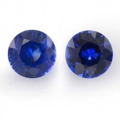 1.49 карат, синий, Шри-Ланки Сапфир, круглой формы