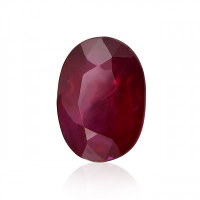 0.90 carat, Red, Mozambique Ruby, Oval Shape
